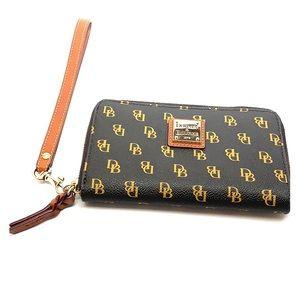Dooney & Bourke Gretta Zip Around Phone Wristlet